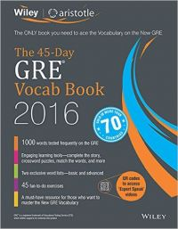 Wiley's The 45-Day GRE Vocab Book 2016 (English) (Paperback): Book by Aristotle Prep