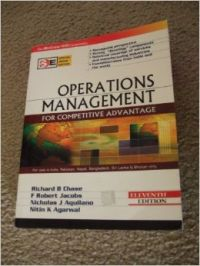 Operations Management for Competitive Advantage  11th Edition : Book by  Now in well-deserved retirement, was Professor of Management at the university of Arizona in Tucson where he has been writing books and teaching undergraduate and graduatelevel courses in Operations Management and Project Management for over 25 years. He received his PhD from UCLA and has taught at ... View More Now in well-deserved retirement, was Professor of Management at the university of Arizona in Tucson where he has been writing books and teaching undergraduate and graduatelevel courses in Operations Management and Project Management for over 25 years. He received his PhD from UCLA and has taught at Northeastern University. He has worked for General Electric, and he has also taught at Northeastern University and The Executive Institute of Yogoslavia. Justin B Dart Professor of Operations Management and Director of the Center for Service Excellence at the Marshall School of Business, University of Southern California. He received his PhD in Operations Management, as well as an MBA and BS from UCLA. He has taught at the Harvard Business School, IMD (Switzerland), and the University of Arizona. Dr. Chase has lectured/ consulted recently on service and excellence to such organizations as General Electric, the Southern California Gas Company, the Cato Institute, the Conference Board, Aloha Airlines, The Davies Group, and the American Marketing Association. He has developed executive programs for Honeywell, IBM, and DEC. E-II Faculty Fellow and Professor of Operations Management at the Kelley school of Business, Indiana University. He has degrees in Industrial Engineering, Computer and Information Science, an MBA, and a PhD in Operations Management. His PhD is from The Ohio State University, and he is a past president and a Fellow of the Decision Sciences Institute, which also awarded him with the Distinguished Service Award in fall, 2004. He has authored 5 books and over 30 research articles on topics that include inventory control, the design of manufacturing facilities, cellular manufacturing and the scheduling of manufacturing operations. Associate Professor in the area of Operations Management and Quantitative Techniques at Indian Institute of Management, Indore. He received his PhD in Operations Research from North Carolina State University, USA, an MS from University of North Carolina at Chapel Hill and Integrated M Tech from IIT, Mumbai. He has co-authored several papers, which have appeared in Journals like International Journal of Project Management and IEEE sponsored international conferences. His research and consulting interests are in Operations Management, Supply Chain Management, Project Management and Mathematical Programming. .