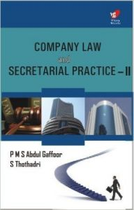 Company Law & Secretarial Practice Ii (English): Book by Gaffoor