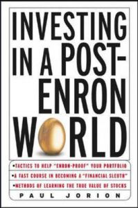 Investing in a Post-Enron World: Book by Paul Jorion