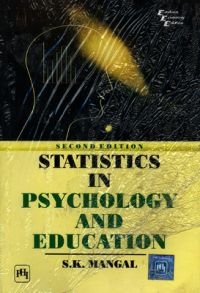 STATISTICS IN PSYCHOLOGY AND EDUCATION: Book by S. K. Mangal