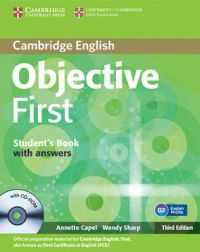 Objective First Student's Book with Answers with CD-ROM: Book by Annette Capel