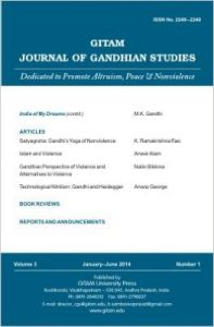 Gitam Journal of Gandhian Studies (Volume - 3, No. 1) (English): Book by B. Sambasiva Prasad