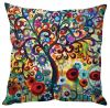 Stybuzz Tree Abstract Art Multi Color Cushion Cover