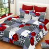 Rg Home Designer Poly Cotton Double Bedsheet - Rg-pc-03