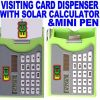 Pocket Visiting Card Holder Dispenser & Calculator