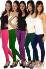 Rham Multi Colour Cotton Lycra Full Length Set Of 5 Leggings