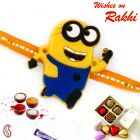 Aapno Rajasthan Charming Yellow Minion Kids Rakhi - RK17820
