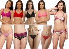 Clovia Set Of 10 Pcs Bra & Panty In Multi Color