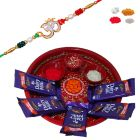 Thali Chocolate Hamper - Send Rakhi And Puja Thali With Dairy Milk Chocolate For Brother - Buy Rakhi Gifts Online