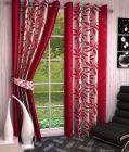 Sai Arpan's Pink Premium Kolaveri Door Curtains- Set of 2
