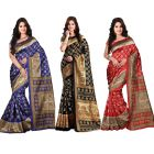 wama fashion bhagalpuri cotton sari with blouse (TZ_Combo_kasturi)