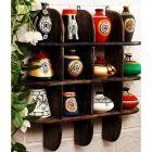 Onlineshoppee Beautiful Black 3 Tier Wooden Wall Shelves/Rack Size LxBxH-20