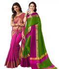 Buy 1 Get 1 Free Bhuwal Fashion Cotton Silk Sarees (code- Combo291)