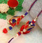 Rakhi Gifts - Elite Zardosi Bhaiya Bhabhi Rakhi Set