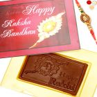 Rakhi Gifts for Brother Rakhi Sugarfree Chocolates - Happy Rakhi Pink Sugafree Chocolate Box with Om Rakhi
