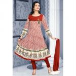 Mallika Brown & Cream Anarkali Suit