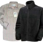 Miscellaneous Winter Combo Fleece Jacket with Stripe Shirt