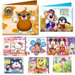 Miscellaneous 3 Kids Cartoon Tough card Paper wallets purse gift