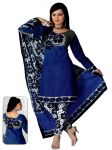 Salwar Studio Blue Dress Material GA-1018