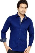 Telco Semi Formal Shirt Navy Blue By Corporate Club (code - Telco 04)