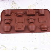 Silicone Chocolate Molud Biscuit Tea Pot Set By Okayji (code - Jsc020)