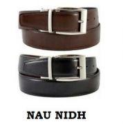 Nau Nidh Reversible Formal Italian Leather Belt Black And Brown