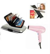 Nova 850 Watts Hair Dryer & Alluma Wallet & Eye Brow Trimmer