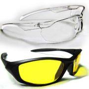 HD Glare Day & Night Vision Sunglasses Combo
