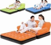 5 In 1 Velvet Air Lounge Sofa Cum Bed