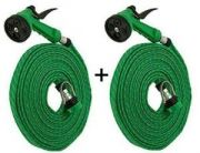 Set Of 2 Water Spray Gun Hose Pipe House Garden Car Wash