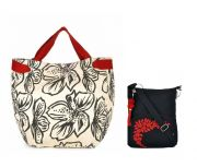 Combo Of Pick Pocket Accrue With Black Prints With Black Sling Bag
