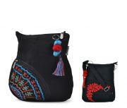 Combo Of Pick Pocket Excellent Sling Side Pocket With Black Small Sling Bag