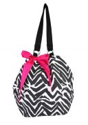 Pick Pocket Canvas Zebra Print Jholi Bag