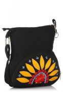 Pick Pocket Black Canvas Sling Bag