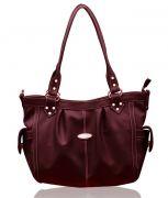 Fostelo Maroon Sophisticated Leather Handbag