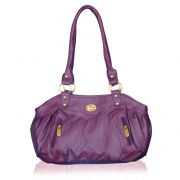 Fostelo Swann Purple Leather Handbag