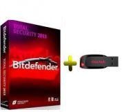 Bitdefender Total Security 2013 1pc 1year With Free Sandisk 4gb Pendrive