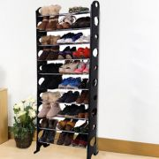 Convertible Lightweight 10 Tier Shoe Rack Organise
