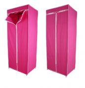 Kawachi Single Canvas Clothes Storage Organiser Wardrobe Cupboard Shelving
