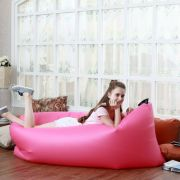 Camping Inflatable Sleeping Air Bag Portable Beach Lazy Sofa Lounge Couch K424