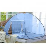Kawachi Double Bed Size Folding Mosquito Net-blue