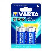 Varta Alkaline High Energy 2 D Size Alkaline Batteries