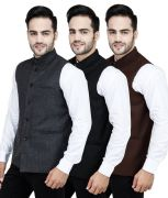 Stylox Set Of 3 Modi Jacket [brn-gry-blk
