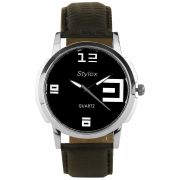 Stylox Stylish Formal Black Dial Watch (STX101)