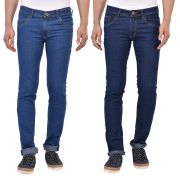 Stylox Pack Of 2 Cotton Slim Fit Jeans For Men