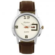Stylox Stylish Formal White Dial Watch (STX101)