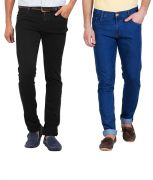 Stylox Pack Of 2 Jeans For Men (product Code - Dnm-1001-3-2dnm)