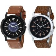 Stylox Set Of 2 Casual Watch For Men (product Code - Wh-2cmbo-140-143)