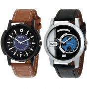 Stylox Set Of 2 Casual Watch For Men (product Code - Wh-2cmbo-140-144)